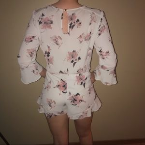 one clothing Dresses - White Floral Romper